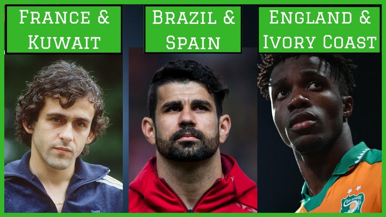 Футболисти, играли под знамената на различни държави